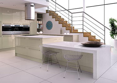 Ultragloss Metallic Champagne Kitchen Doors