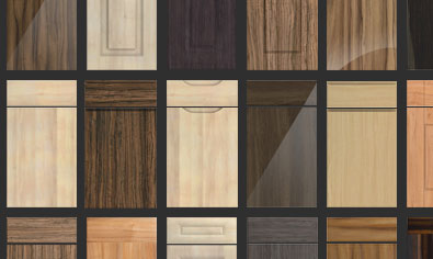 Woodgrain kitchen doors from made to measure for Wood grain kitchen doors