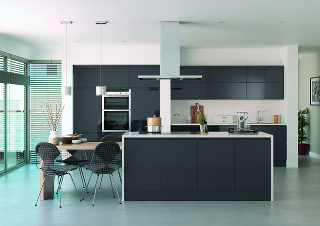 High Gloss Doors Anthracite