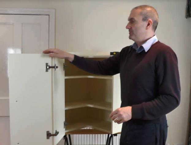 How To Replace L Shape Corner Cupboard Doors A Video Guide