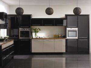 Pisa High Gloss Black and High Gloss Cappuccino Cupboard Doors