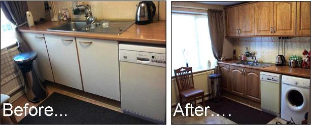 New Kitchen Doors - before and after pictures