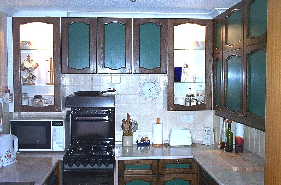 The old kitchen was tired and outdated