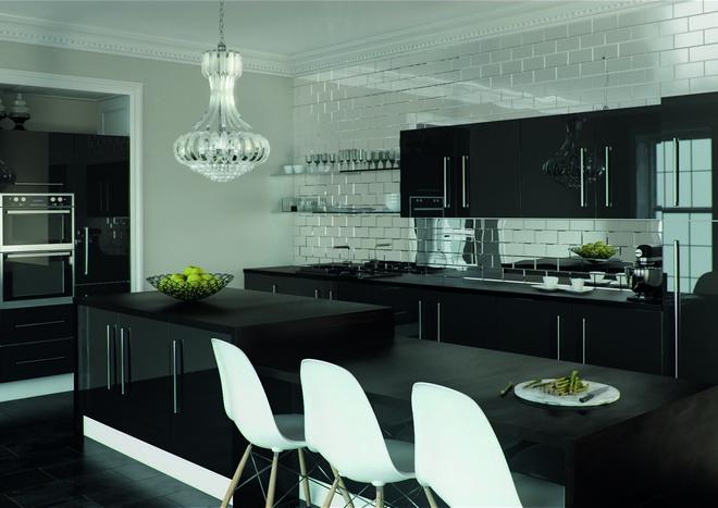 black kitchen door