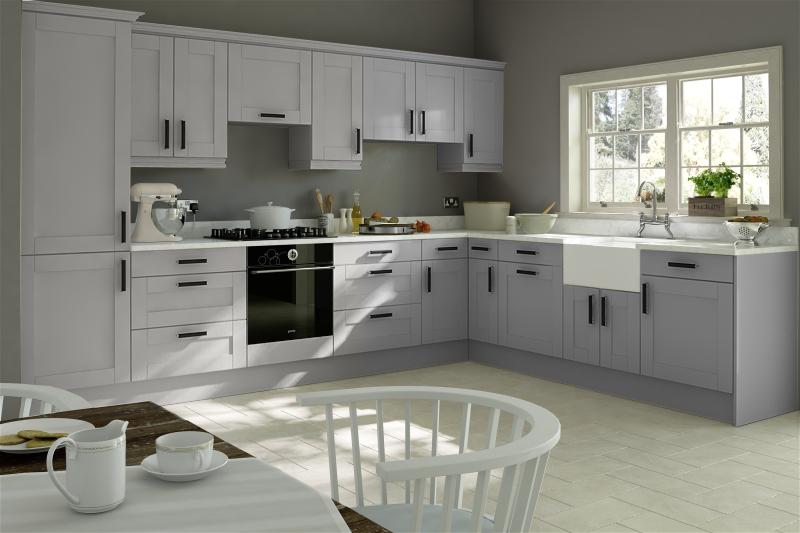Light Grey Shaker Kitchen