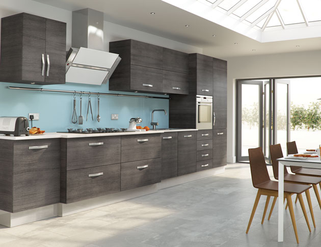 Grey and Light Blue Kitchen
