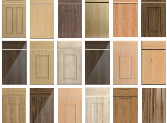 woodgraing kitchen doors