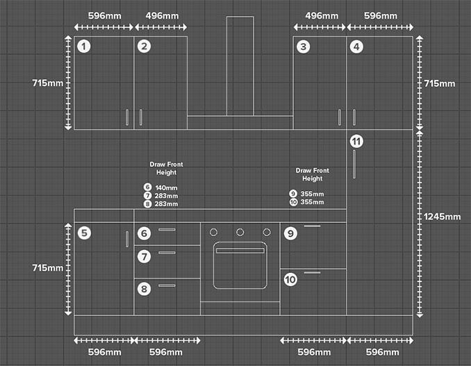 Measured Kitchen Layout