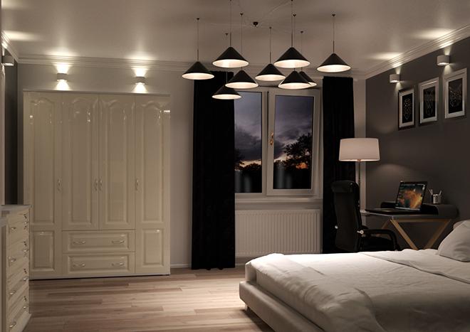 Bedroom doors in High Gloss Ivory